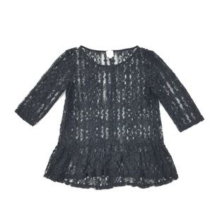 Anthropologie | Sparrow Full Lace Peplum Top